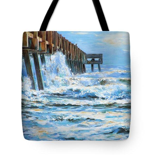 Jacksonville Beach Pier Tote Bag