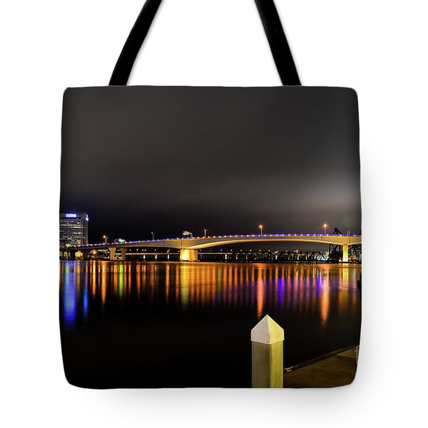 Jacksonville Night Sky Tote Bag