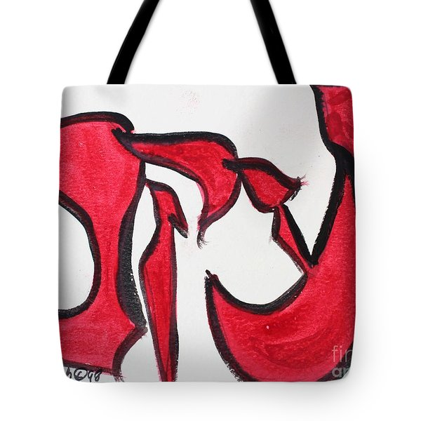 Tote Bag featuring the painting Jacob Yaakov by Hebrewletters Sl
