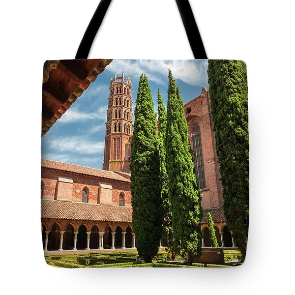 Tote Bag featuring the photograph Jacobin Convent In Toulouse by Elena Elisseeva