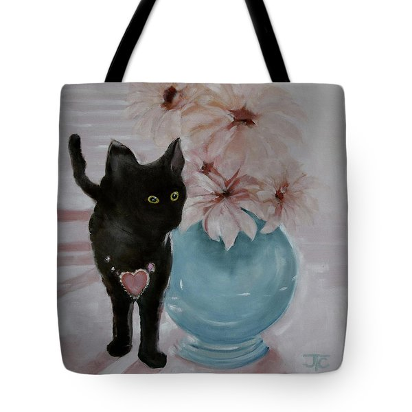 Jacobs's Cat Tote Bag by Julie Todd-Cundiff