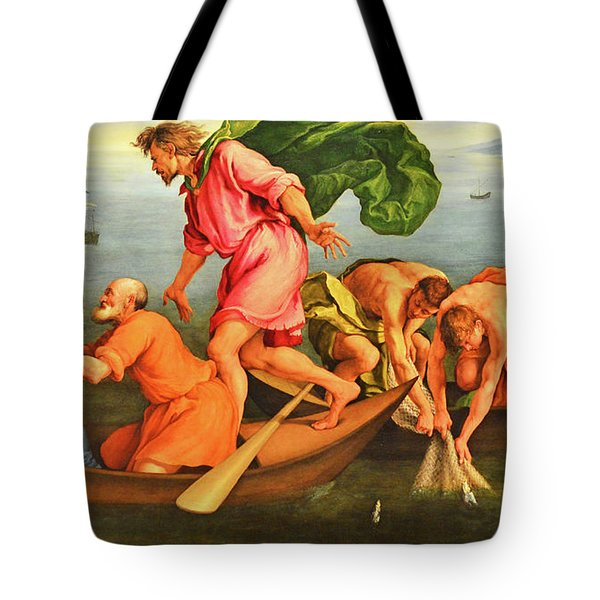 Tote Bag featuring the photograph Jacopo Bassano Fishes Miracle by Munir Alawi