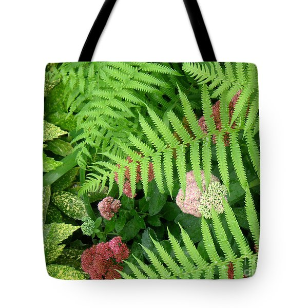 Jacqueline's Garden - Camaraderie Of Textures Tote Bag by Lucyna A M Green
