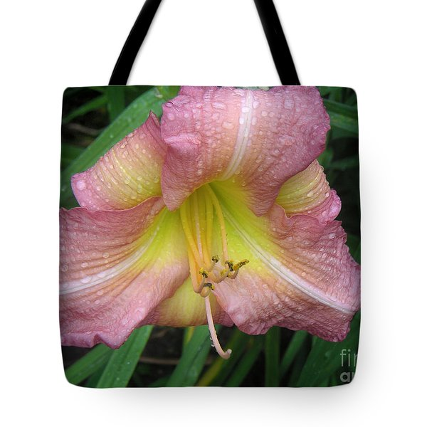 Jacqueline's Garden - Lily Glistening Too Tote Bag by Lucyna A M Green