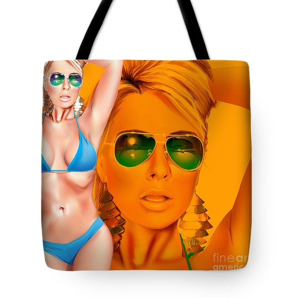 Tote Bag featuring the digital art Jacqui by Brian Gibbs
