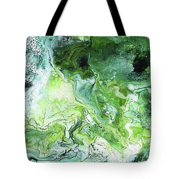 Jade- Abstract Art By Linda Woods Tote Bag
