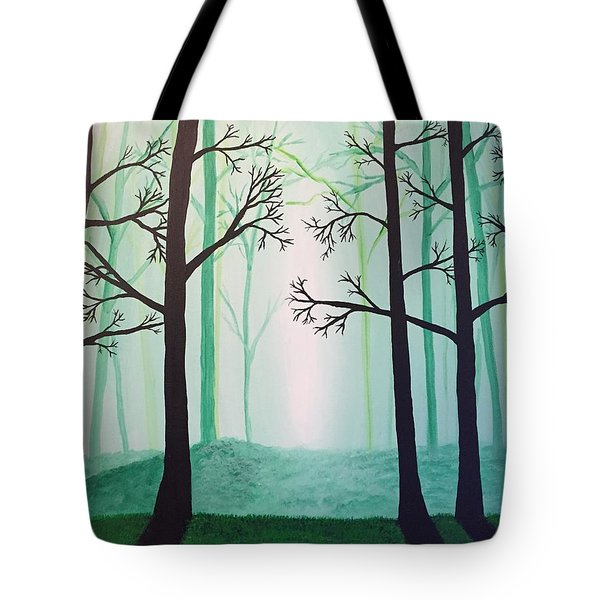 Jaded Forest Tote Bag