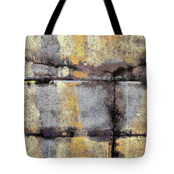 Tote Bag featuring the painting Jagged Lavendar by Maria Huntley