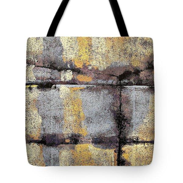 Jagged Lavendar Tote Bag by Maria Huntley