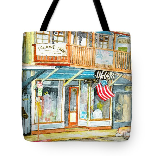 Tote Bag featuring the painting Jaggers by Eric Samuelson