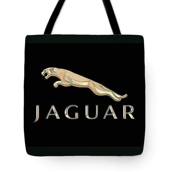 Jaguar Car Emblem Design Tote Bag