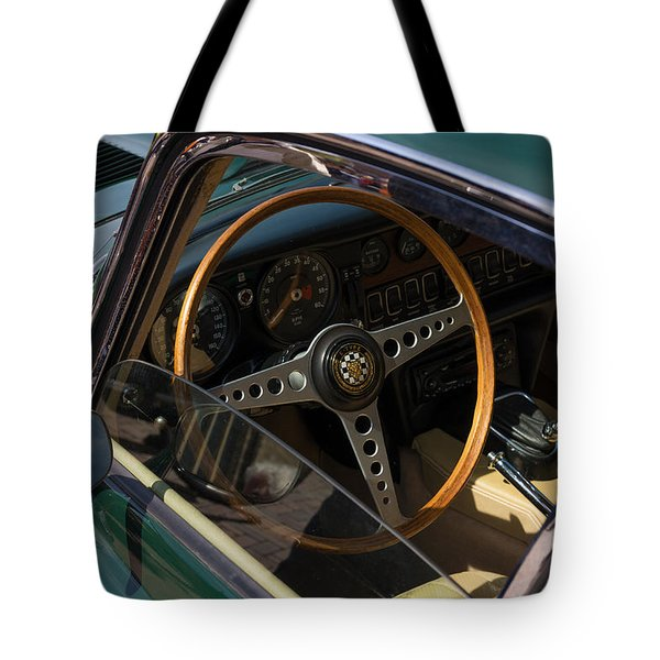 Tote Bag featuring the photograph Jaguar E-type Interior by Hans Engbers