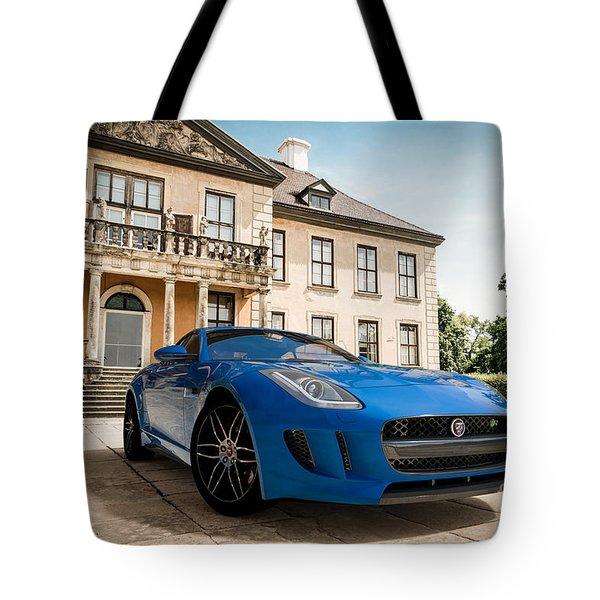 Jaguar F-type - Blue - Villa Tote Bag