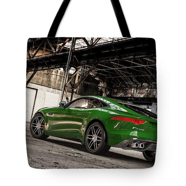 Jaguar F-type - British Racing Green - Rear View Tote Bag