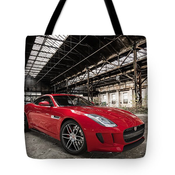 Jaguar F-type - Red - Front View Tote Bag