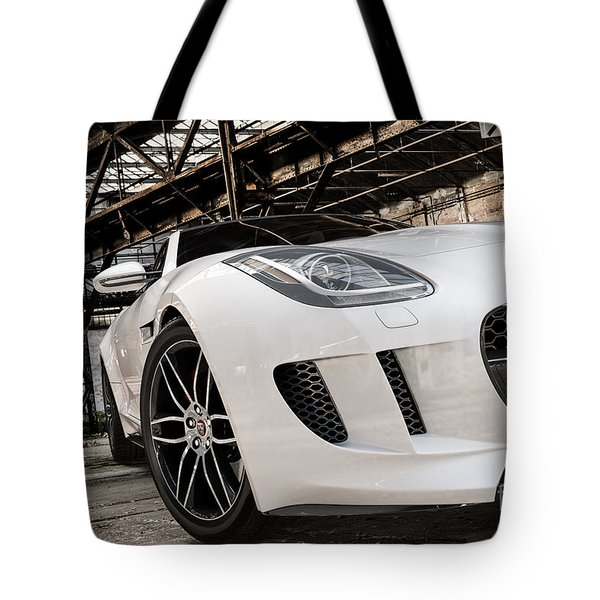 Jaguar F-type - White - Front Close-up Tote Bag