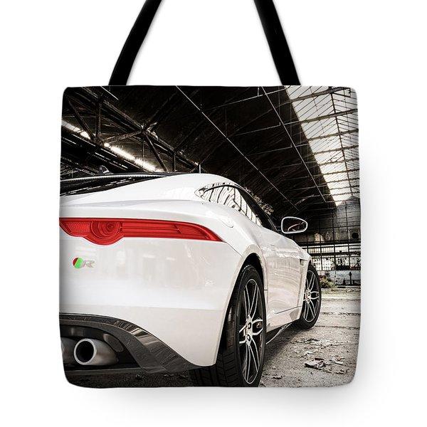 Jaguar F-type - White - Rear Close-up Tote Bag