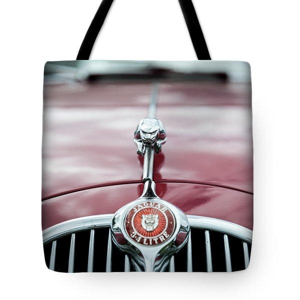 Jaguar Grille Tote Bag by Helen Northcott