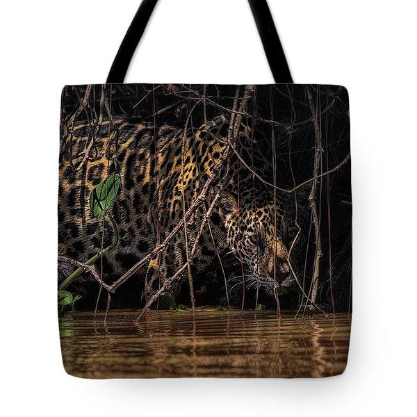 Jaguar In Vines Tote Bag