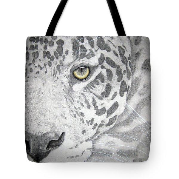 Tote Bag featuring the drawing Jaguar by Mayhem Mediums