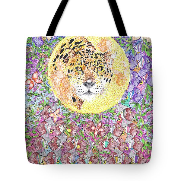Jaguar Night Tote Bag
