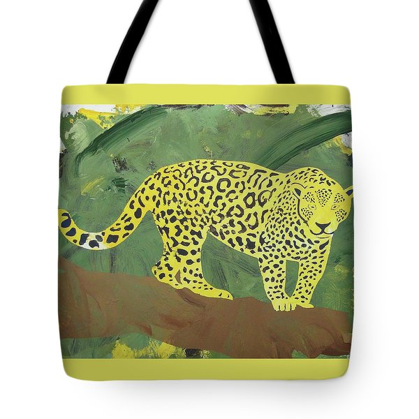 Tote Bag featuring the painting Jaguar by Candace Shrope