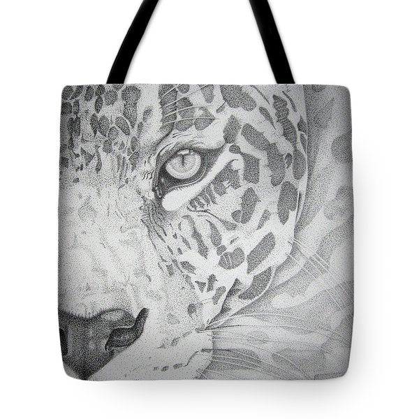 Jaguar Pointillism Tote Bag