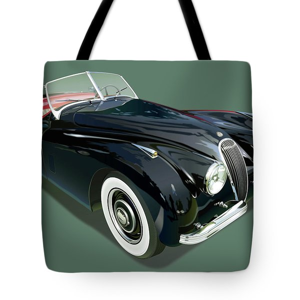 Jaguar Xk 120 Illustration Tote Bag