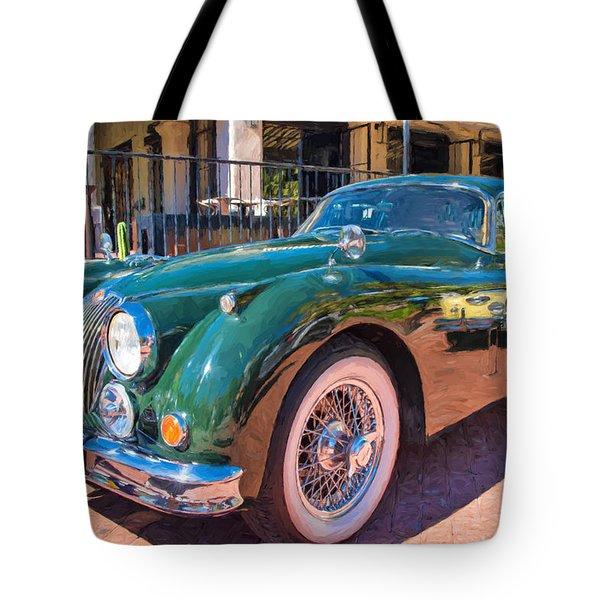 Tote Bag featuring the photograph Jaguar Xk Classic by Dan McManus