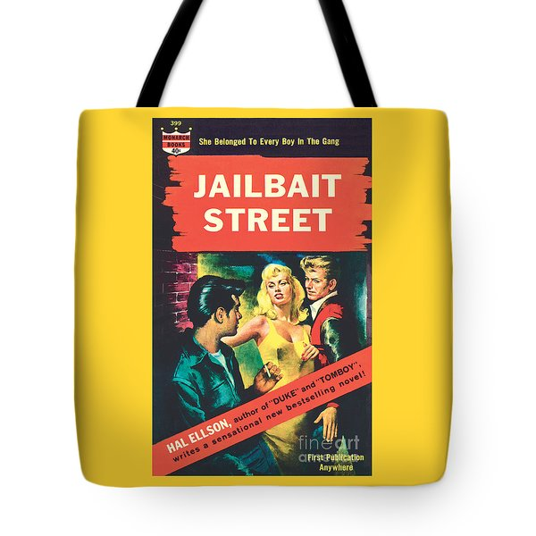 Tote Bag featuring the painting Jailbait Street by Ray Johnson