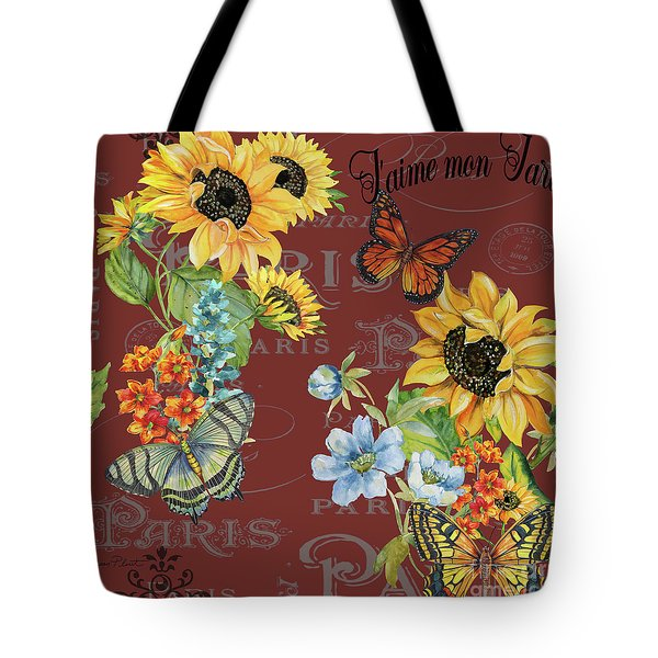 Tote Bag featuring the painting Jaime Mon Jardin-jp3988 by Jean Plout