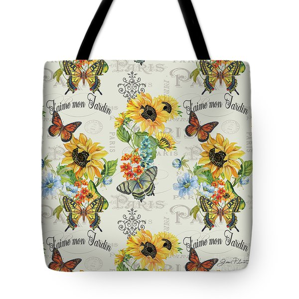Tote Bag featuring the painting Jaime Mon Jardin-jp3989 by Jean Plout