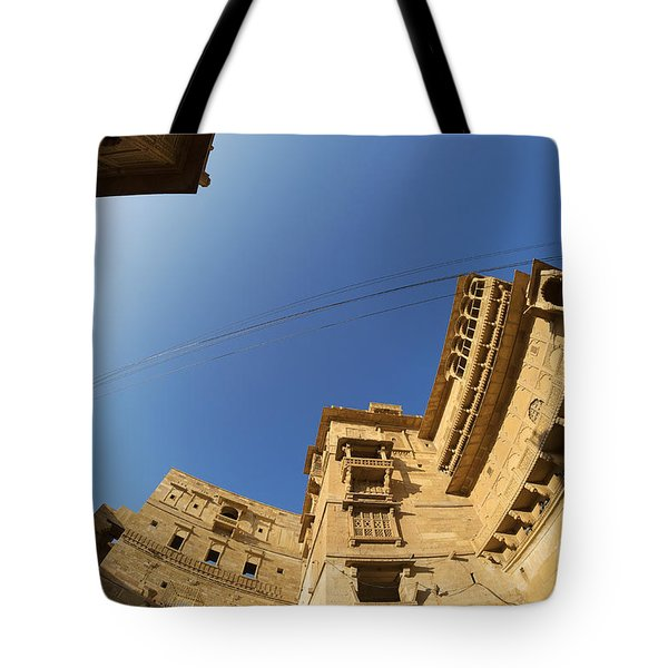 Tote Bag featuring the photograph Jaisalmer Fort by Yew Kwang