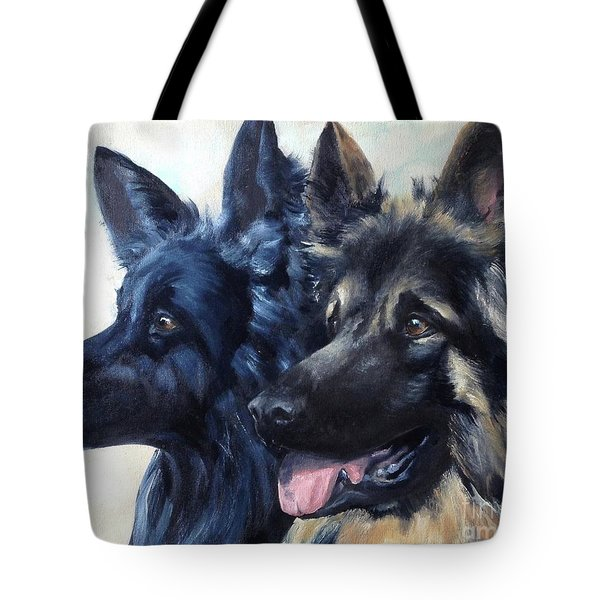 Jake And Shiloh Tote Bag by Diane Daigle
