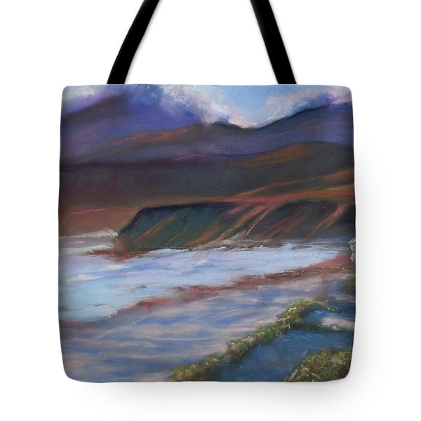 Jalama Beach At Sunset Tote Bag by Laurie Paci