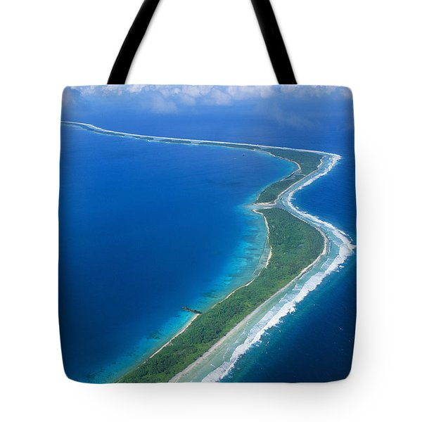 Jaluit Atoll And Lagoon Tote Bag by Greg Vaughn - Printscapes