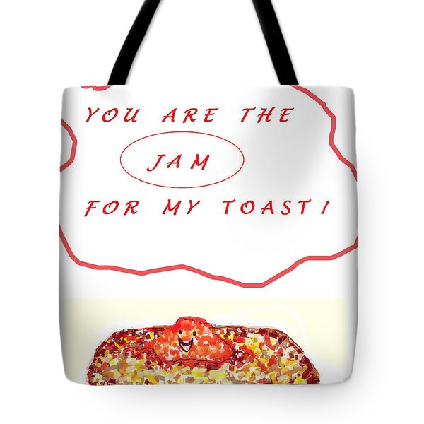 Tote Bag featuring the drawing Jam For My Toast by Denise Fulmer