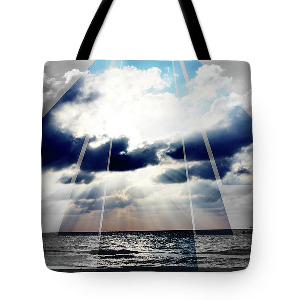 Jamaica Sunset Art Deco Bw With Color Tote Bag