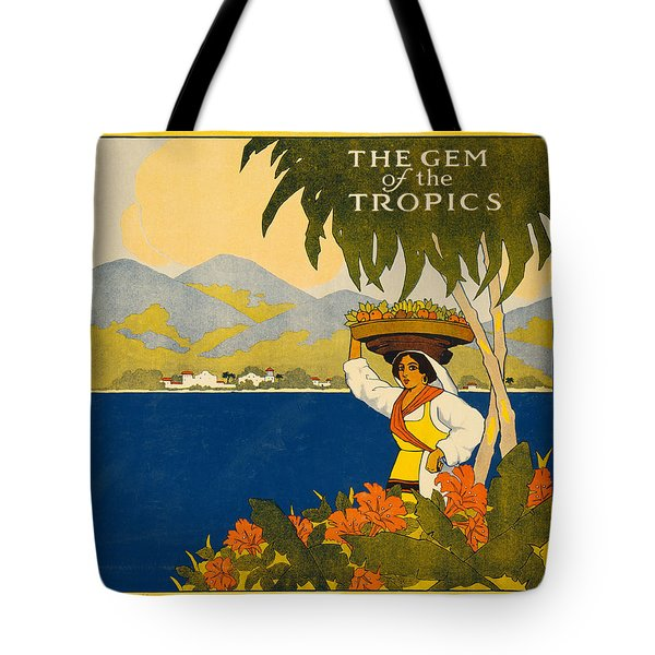 Jamaica  Vintage Travel Poster Tote Bag