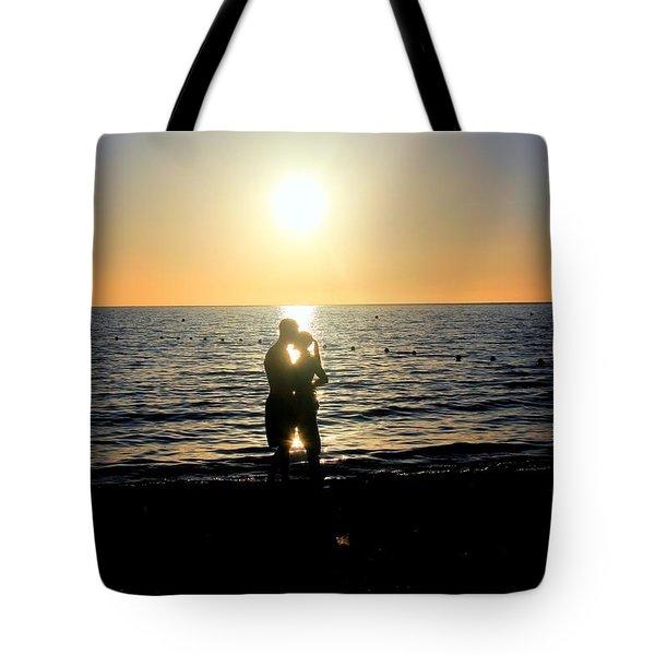 Jamaican Sunset Kiss By Steve Ellenburg Tote Bag by Steve Ellenburg