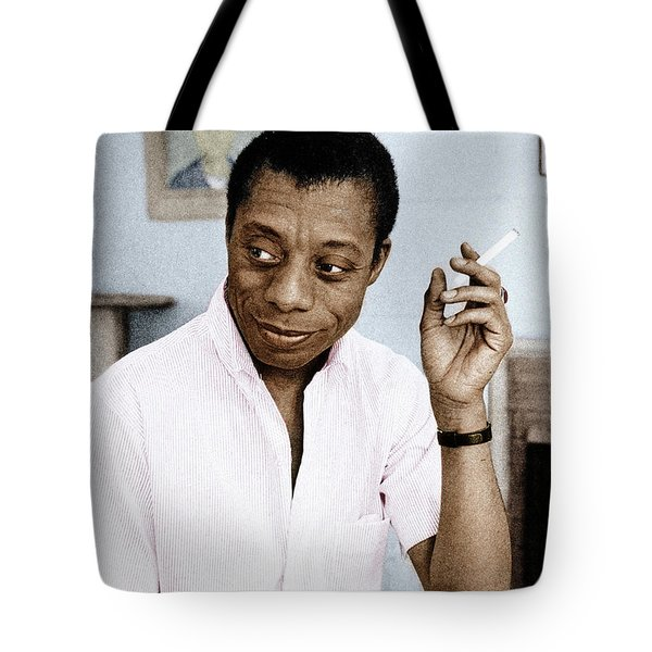 Tote Bag featuring the photograph James Baldwin by Granger