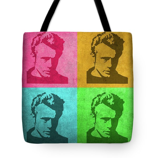 James Dean Vintage Pop Art Tote Bag by Design Turnpike