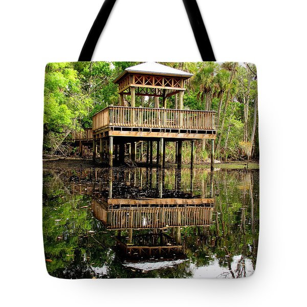 James E Grey Fishing Pier Tote Bag