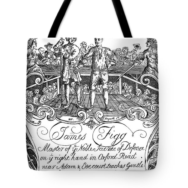 James Figg  Advertisement By William Hogarth Tote Bag