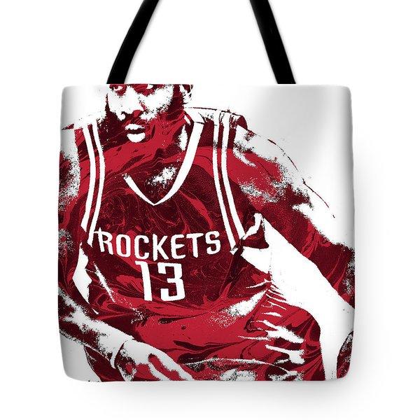James Harden Houston Rockets Pixel Art 3 Tote Bag