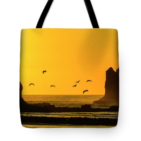 James Island And Pelicans Tote Bag