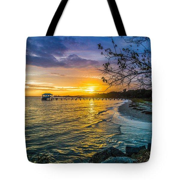 James Island Sunrise - Melton Peter Demetre Park Tote Bag