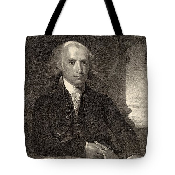 James Madison - Fourth President Of The United States Of America Tote Bag by International  Images