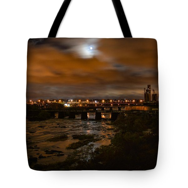 James River At Night Tote Bag