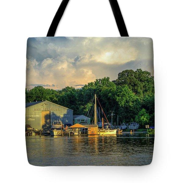 James River Marina Tote Bag